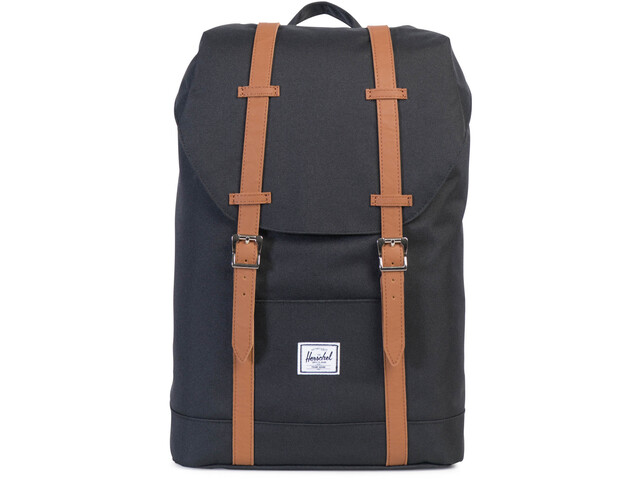 Herschel Retreat Mid-Volume Backpack 14l black/tan synthetic leather